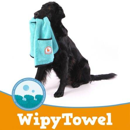 Hondenbadjas Chillcoat + Hondenhanddoek Wipytowel SuperFurDogs